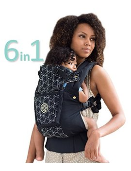 Six Position, 360° Ergonomic Baby & Child Carrier By Lill Ebaby   The Complete Embossed Luxe Diamond (Black) by Amazon