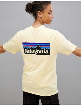 Patagonia – P 6 – Limettengrünes T Shirt Mit Logo by Patagonia