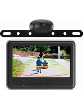 Wireless Backup Camera And Color Monitor Kit   Black by Echo Master