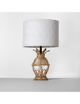 Rattan Pineapple Table Lamp White Shade   Opalhouse™ by Opalhouse™