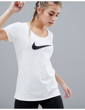Nike Training Dry Scoop Tee In White by Nike