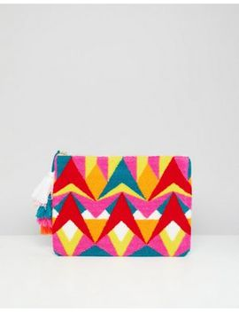 River Island Bead And Tassel Clutch Bag by River Island