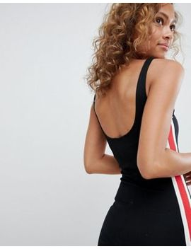 Pull&Bear Side Stripe Detail Bodycon Dress In Black by Pull&Bear