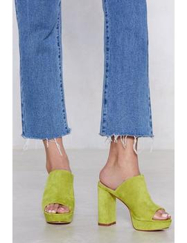 Move It Vegan Suede Mule by Nasty Gal