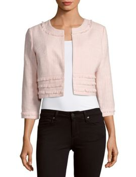 Cropped Knit Bolero Jacket by Karl Lagerfeld Paris