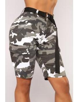 Cadet Kate Oversized Camo Shorts   City Camo by Fashion Nova