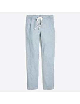 J.Crew Mercantile Driggs Slim Fit Linen Cotton Drawstring Pant by J.Crew