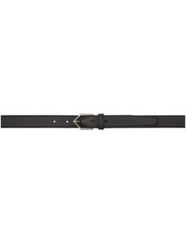Black Triangle Buckle Belt by Saint Laurent