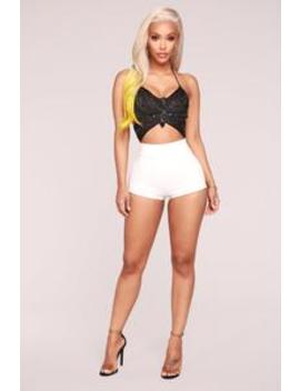 Selah Shorts   White by Fashion Nova