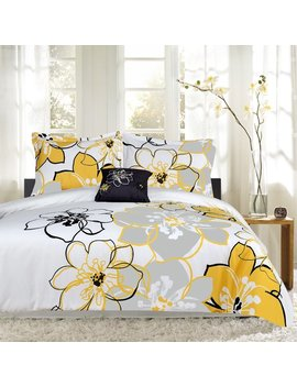 Sweet Home Collection Floral Print 4 Piece Reversible Comforter Set & Reviews by Sweet Home Collection