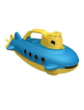 Green Toys Submarine In Yellow   Bpa Free, Phthalate Free, Bath Toy With Spinning Rear Propeller. Safe Toys For Toddlers, Babies by Green Toys
