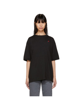 Ssense Exclusive Black Embroidered Rose Sport T Shirt by 6397