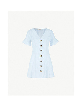 Flared Denim Dress by Topshop