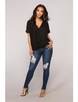 Top Of My List Distressed Jeans   Medium Blue Wash by Fashion Nova
