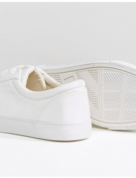 Asos Design Wide Fit – Vegane, Weiße Sneaker by Asos