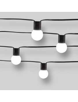 10ct Modern String Lights   Frosted G40 String Lights With Collar   Project 62™ by Shop Collections