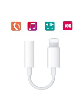 Coreykin Lightning To 3.5mm Headphone Jack Adapter For I Phone 7/ 7 Plus 8 Plus Iphone X I Pod Touch I Pad And More White by Amazon