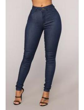 Bella High Rise Skinny Jeans   Dark Denim by Fashion Nova