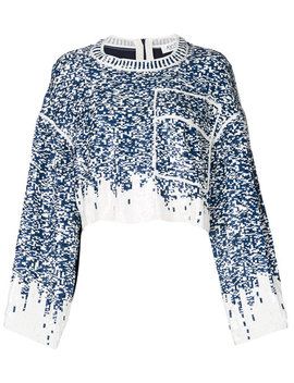 Sequin Embroidered Cropped Tophome Women Clothing Blouses by Aviù