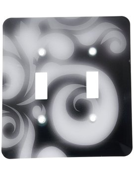 3d Rose Llc Lsp 30048 2 Glowing Swirl On Black Double Toggle Switch by Amazon