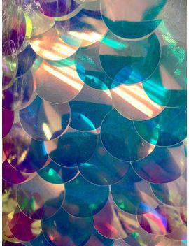 "Extra Large Reflective Iridescent Clear Payette Sequin Fabric By The Yard 60"" by Ebay Seller"