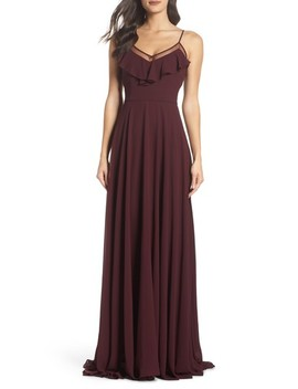 Francie Ruffle V Neck Gown by Heartloom