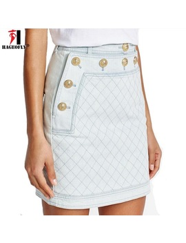 Hageofly Short Jeans Skirt Women Summer Blue Denim Skirt Mini A Line Saia Jeans 2018 New High Quality Work Casual Skirt Xl by Hageofly