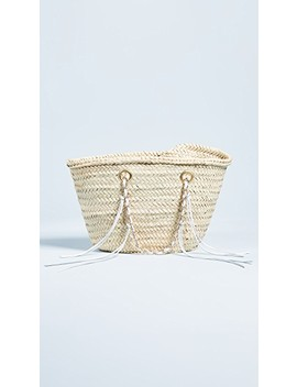 Rose Straw Tote by Giselle