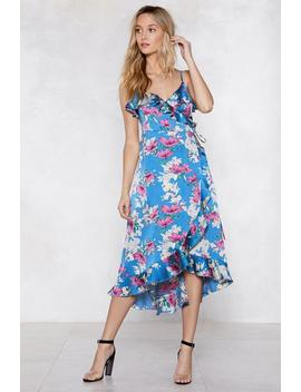Wrap Out Floral Dress by Nasty Gal