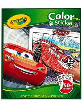 Crayola Cars 3 Color & Sticker Book by Crayola