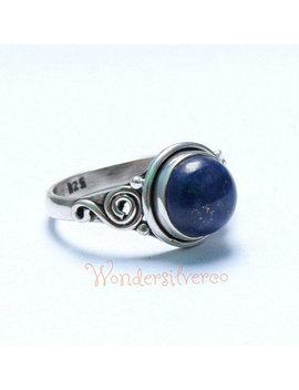 Lapis Lazuli Stone Ring, Lapis Lazuli Ring , Silver Ring, 925 Sterling Silver, Lapis Lazuli Jewellery, Bohemian Ring, Handmade Ring by Etsy