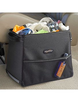 High Road Stable Mate Leakproof Car Trash Bin With Lid   Large by High Road