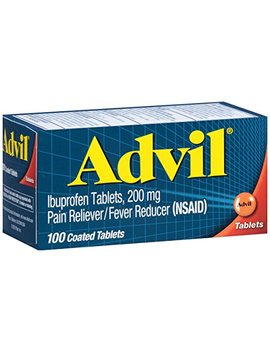 Advil (100 Count) Pain Reliever/Fever Reducer Coated Tablet, 200mg Ibuprofen, Temporary Pain Relief by Advil