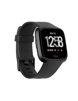 Fitbit Versa Smartwatch, Black/Black Aluminum, One Size (S & L Bands Included), 0.71 Lb by Amazon