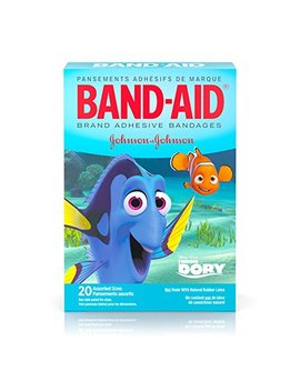 Band Aid Brand Adhesive Bandages, Disney/Pixar Finding Dory Characters, Assorted Sizes, 20 Ct by Band Aid