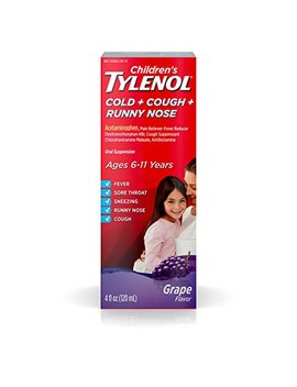 Children's Tylenol Cold, Cough, And Runny Nose Medicine, Grape, 4 Fluid Ounce by Tylenol
