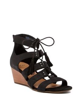 Yasmin Snake Embossed Wedge Sandal by Ugg