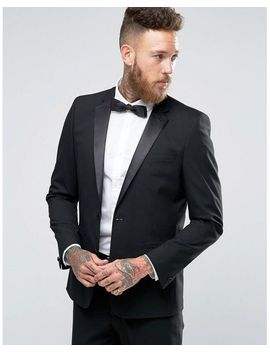 Men's Slim Tuxedo Suit Jacket In Black by Asos