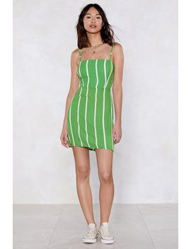 Make A Beeline Striped Dress by Nasty Gal