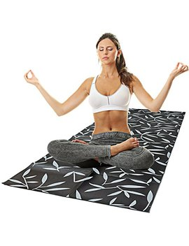 Foldable Yoga And Exercise Mat (Black) by Amazon