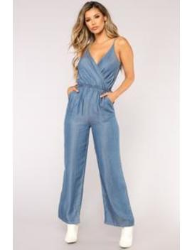 Very Thought Of You Jumpsuit   Medium Wash by Fashion Nova