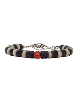 Tricolor Beaded Bracelet by Saint Laurent