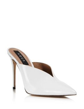Women's Pointed Toe High Heel Mules   100 Percents Exclusive  by Aqua