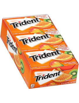 Trident Sugar Free Gum, Tropical Twist, 14 Ct (Pack Of 12) by Trident