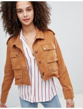 Bershka Distressed Cargo Jacket by Bershka