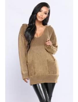 Want To Be Seen Sweater   Olive by Fashion Nova