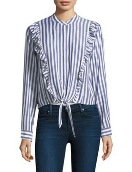 Piper Ruffle Striped Top by Rails