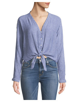 Sloane Striped Linen Top by Rails