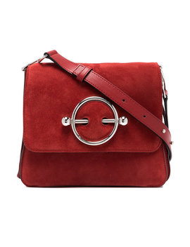 Red Disc Suede And Leather Cross Body Bag by Jw Anderson