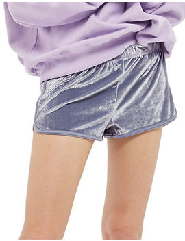 Velour Running Shorts by Topshop